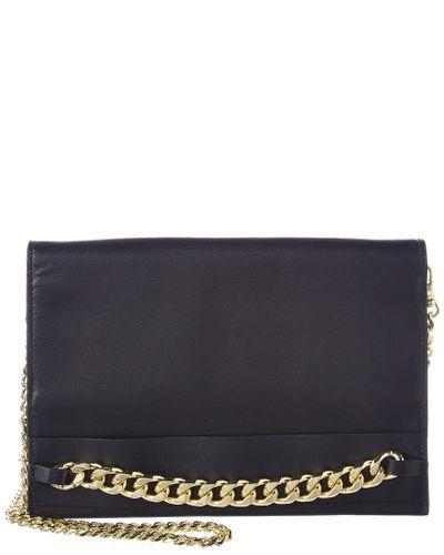 df0a31f4070c37 BCBGMAXAZRIA - Black Zarina Convertible Leather Chain Wallet - Lyst ...