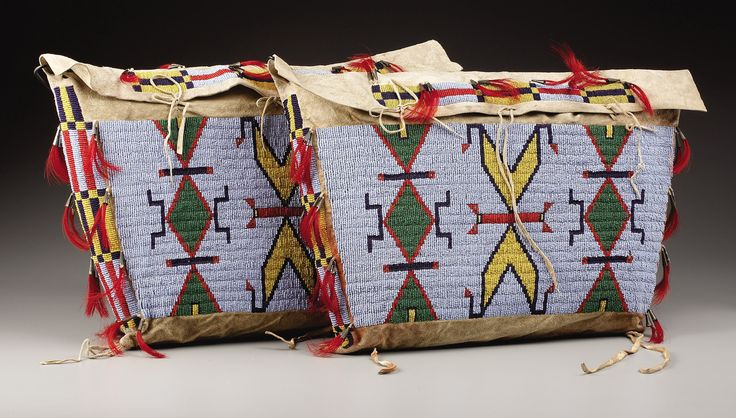 A PAIR OF SIOUX BEADED HIDE TIPI BAGS. . c. 1900. ... (Total: | Lot #77123 | Heritage Auctions