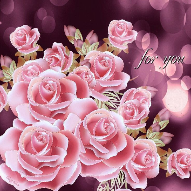 Много роз красивые картинки гиф