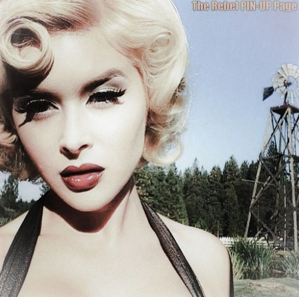 Pinup hairstyles. Renee Olstead. Personal snap on set. Makeup and hair by jennifer corona