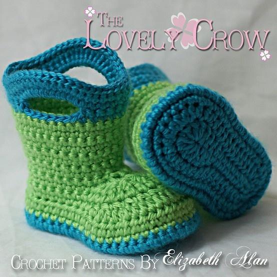 Crochet Baby Galoshes