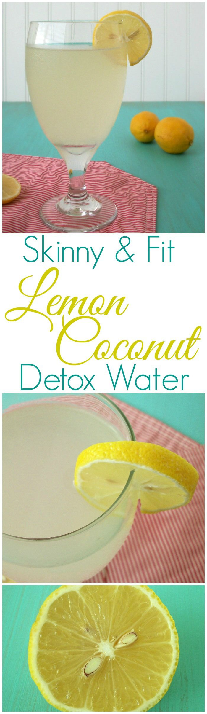 Skinny & Fit Lemon Coconut Detox Water | A Paleo, Grain-Free, Clean Eating Health & Fitness Blog