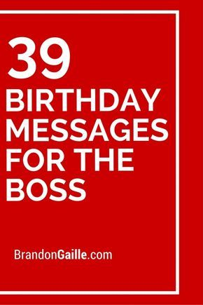 39 Birthday Messages for the Boss
