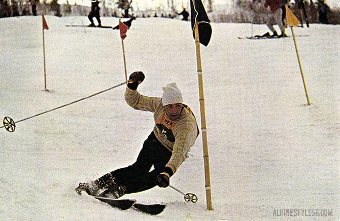 Toni Sailer of Austria, ski racing in the 1957 Roche Cup in Aspen, Colorado.