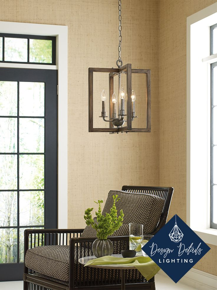 A Solid Woo Chandelier Accented By A Hand Painted Finish Is Well Suited For  Farmhouse Interiors