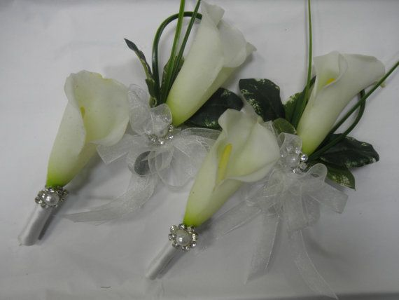 Fancy Calla Wedding Corsages and Boutonnieres