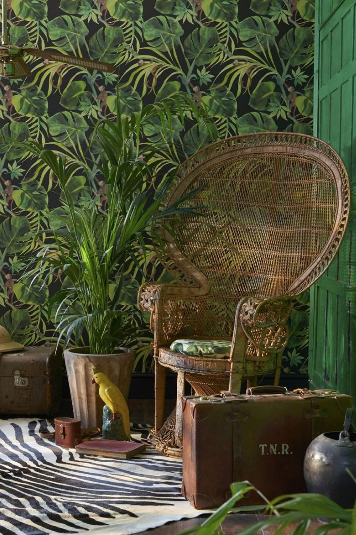 Monkey Business wallpaper design from the new Colony collection by Clarke and Clarke.