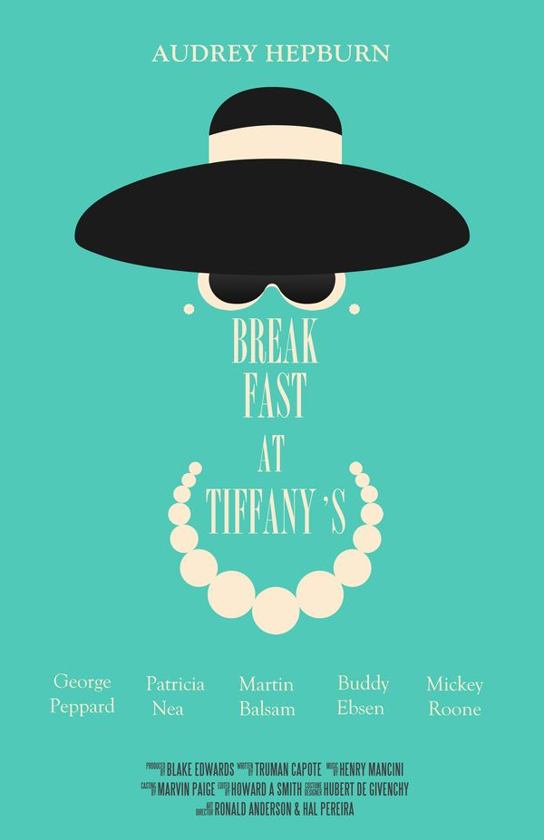 Breakfast At Tiffany's Movie Poster by Monique Sterling, via Behance