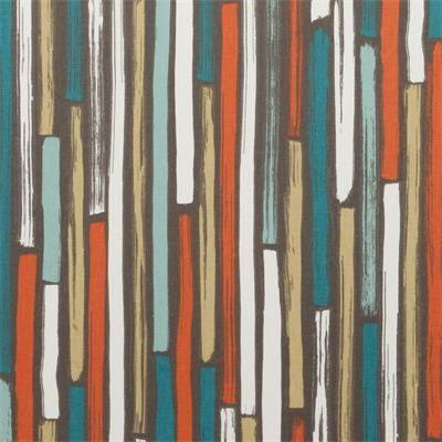 Teal Orange Fabric  Modern Teal Upholstery by greenapplefabrics, $62.00