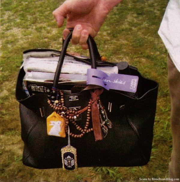 Jane Birkin's bag -- Glamour magazine, Bruce Weber photographer, scan by MoodboardBlog.com