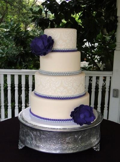 Vintage Purple Wedding By Eh4642 on CakeCentral.com