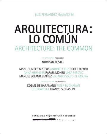 Arquitectura: lo común - Arquitectura Viva · Revistas de Arquitectura
