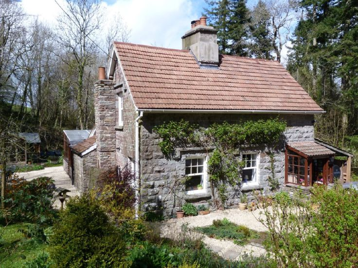 The romantic Waterfall Cottage in Wales.  SmallHouseBliss