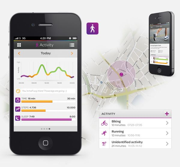 Evo – A Health and Lifestyle Tool by Mads Bjerre, via Behance