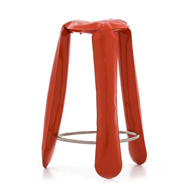 PLOPP bar Stool - Zieta  Bar version of PLOPP stool, as well as other versions, connote with a toy. It's the highest stool from family and have special footrest.
