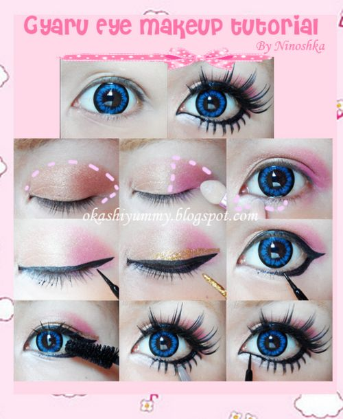 ariska pue's blog: Gyaru Eyes Makeup Part 2
