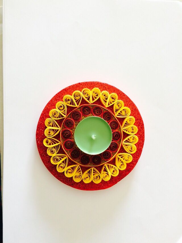 Quilled Diya / Candle holder