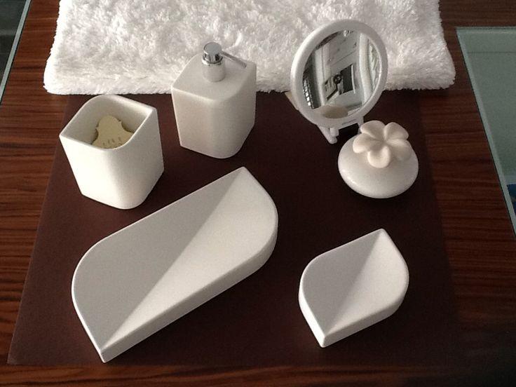 """Accessori appoggio in ceramica bianca opaca """"BATHMAN"""" by Koh-i-noor-i-noor"""