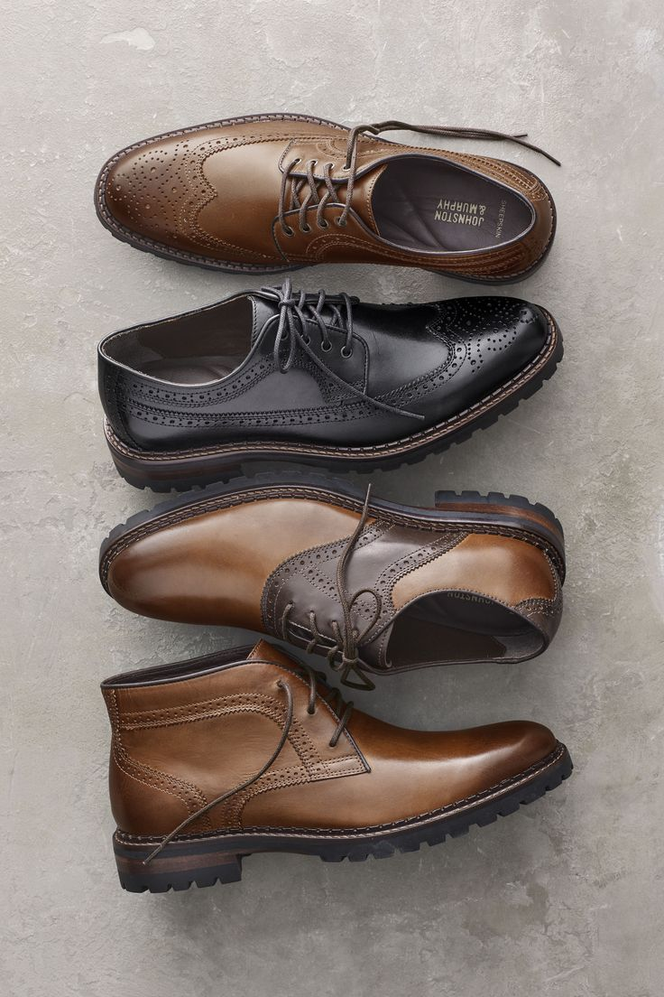 Classic With An Edge: Rugged Soles Meet Distinctive Detailing.