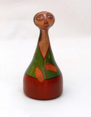 Χειροποίητη κεραμική κούκλα 17 cm
