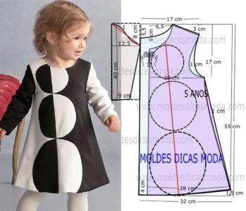 Moldes para hacer vestidos para niñas de 1 a 3 años06