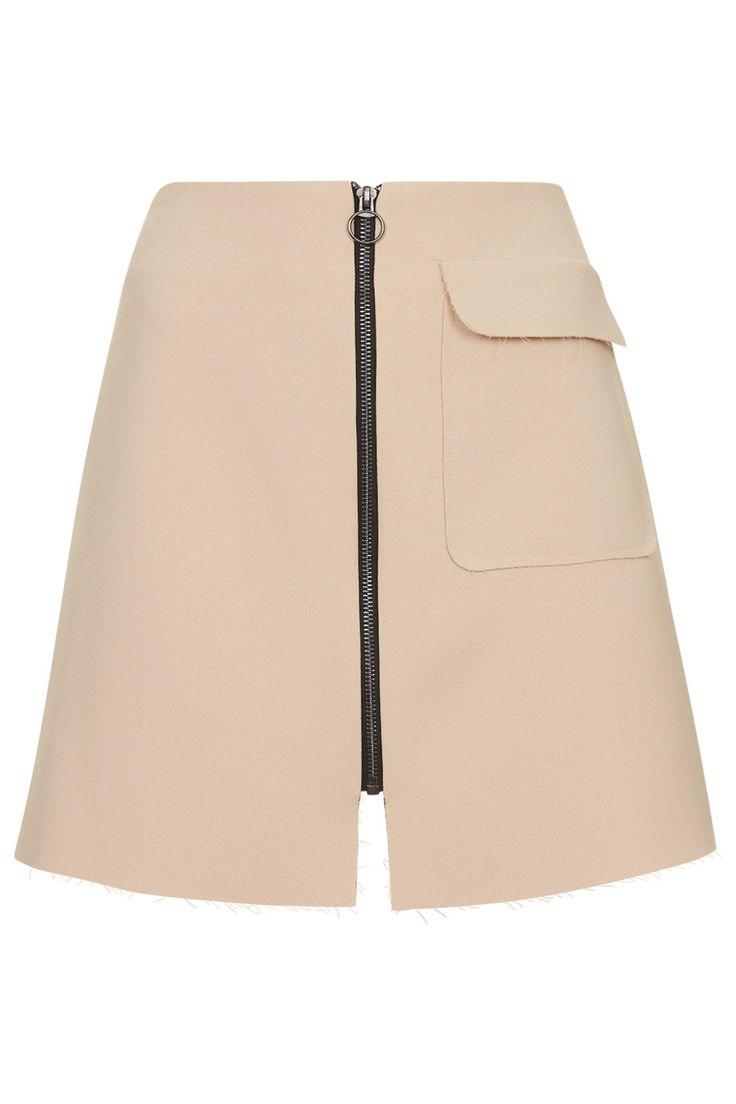 Crepe Patch Pocket A-Line Skirt - Topshop
