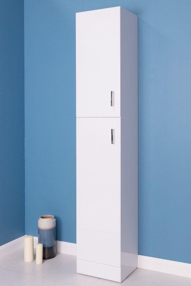 Absolute 300 Bathroom Tall Wall Unit White Bathroom Furniture Storage Tall Bathroom Storage Bathroom Storage Units