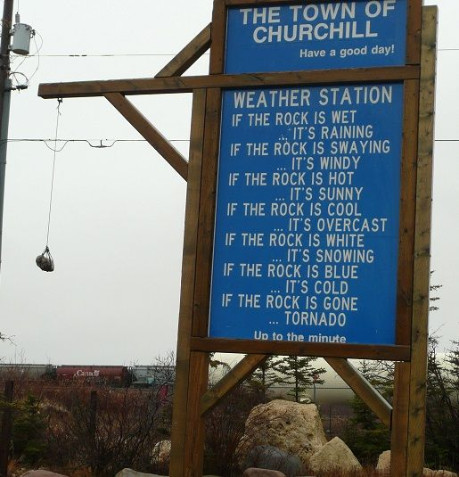 Churchill, Manitoba, Canada weather station up to the minute rock forecast 😄😂