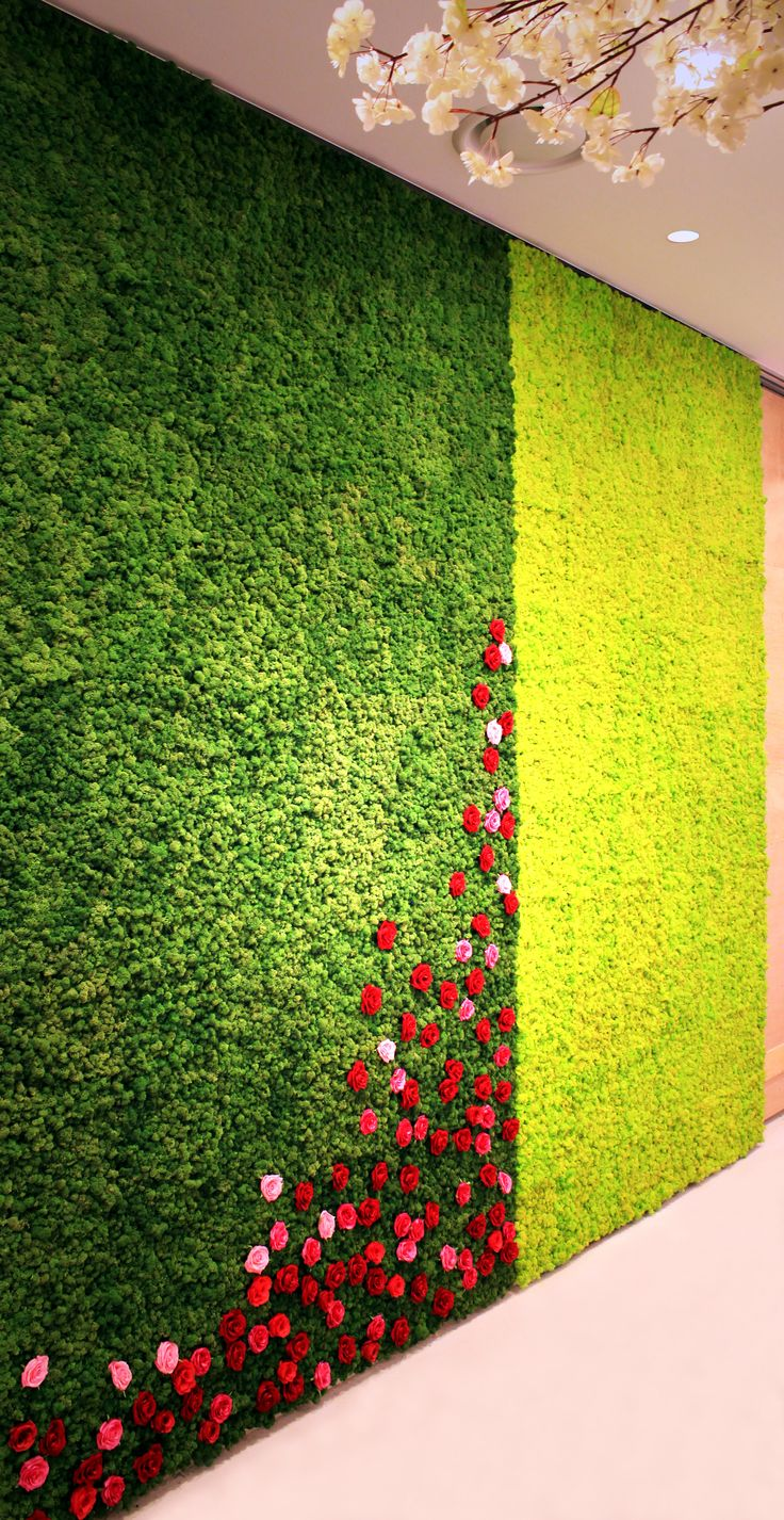 informal green wall indoors. Project : A Wedding Hall Scandia Moss Wall Design Teraria Installed Moss, The Eco-wall Design, In Hall. On This Wall, Color Of Is Informal Green Indoors S