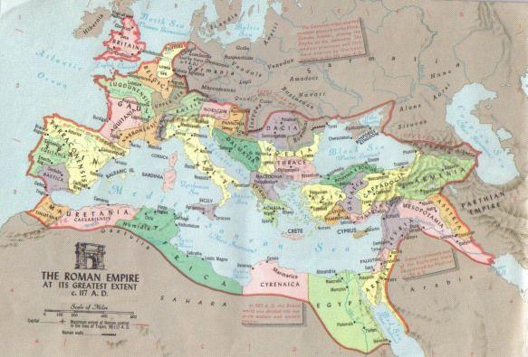 Roman Empire Map Of 70 Ad Roman Empire At Greatest Extent Circa