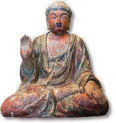 中台山博物館館藏 - 「佛坐像」唐~五代(618-960)時期的木雕佛像   木上彩