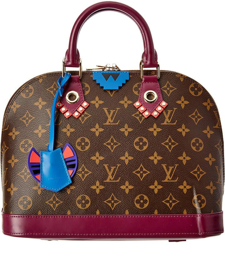 170ebc95e9eb Louis Vuitton Limited Edition Totem Monogram Canvas Epi Alma Pm ...