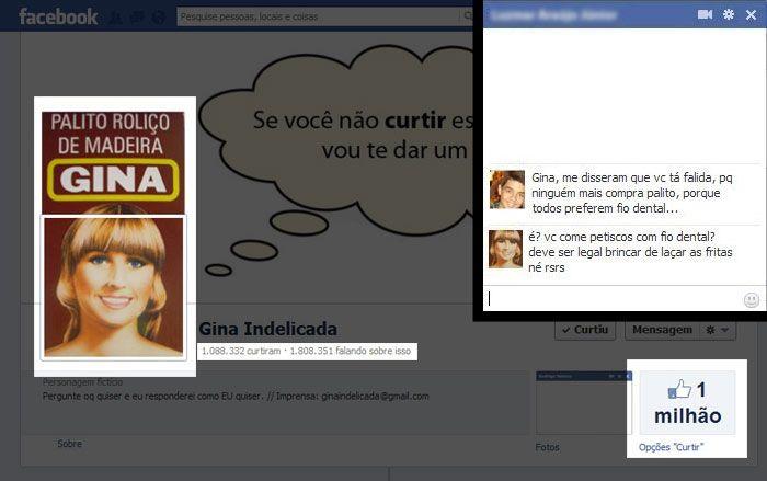 Criador de Gina Indelicada conta como inventou a personagem famosa no Facebook - Tecnologia e Ciência - R7