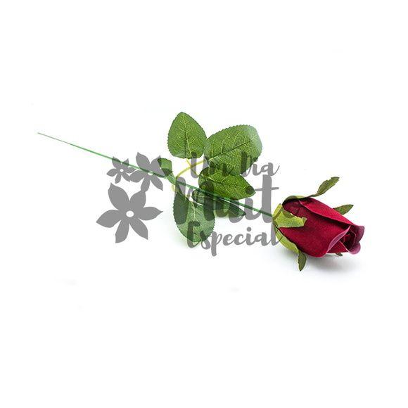 30 Botões de Rosa de Veludo Vermelho