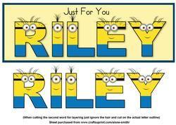 Minions Name - Riley