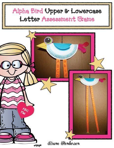 Fern's Freebie Friday ~ Alpha Bird Craftivity A Letter Assessment Game