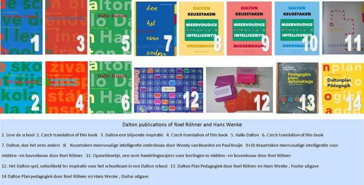 Collage boeken over Daltononderwijs