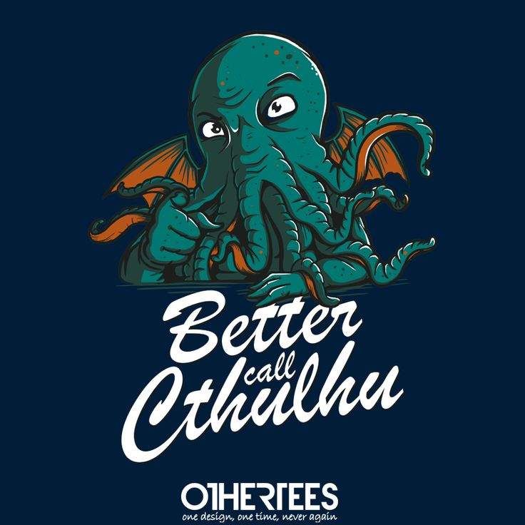 Better Call Cthulhu by Di.Jay Shirt on sale until 23 April on http://othertees.com #cthulhu #breakingbad Weekly free tee winners are now live at http://www.othertees.com/othertees/win_free_tees/