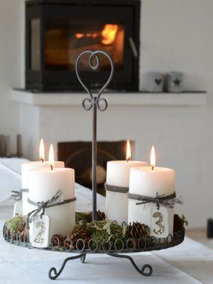 stimmungsvolle beleuchtung adventskranz mal anders christmas pinterest beleuchtung malen. Black Bedroom Furniture Sets. Home Design Ideas