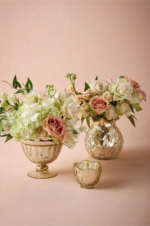 Put Flowers Into Mercury Glasses Flower Power