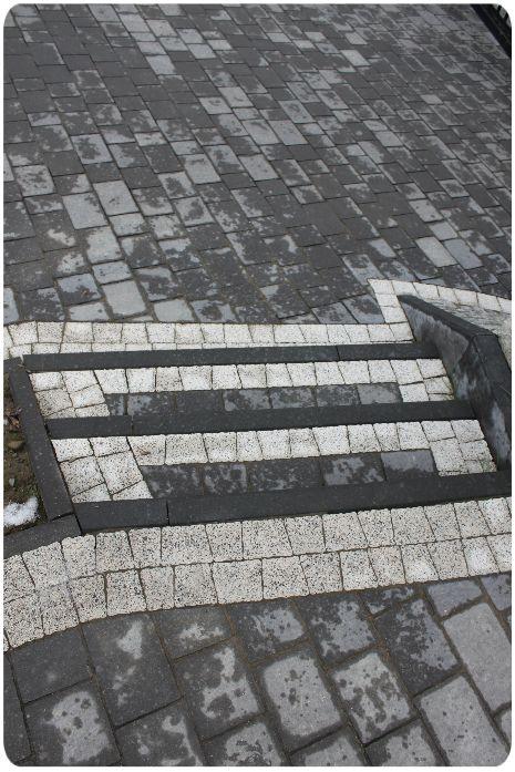 Piękne schody z kostki brukowej