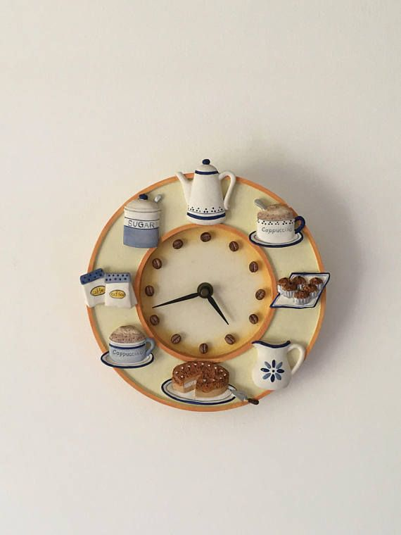 French clock, Funky clock, Kitchen clock, vintage wall clock ...