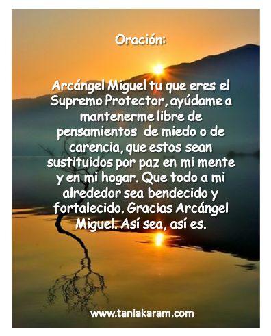 Oración a San Miguel Arcángel.
