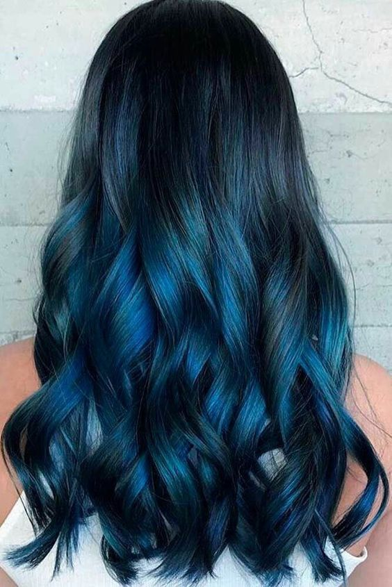 15 Wagemutige, Blau, Schwarz, Haar Ideen