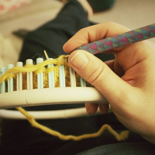 Basic Loom Knitting Instructions : Best images about knifty knitters pattern intructions