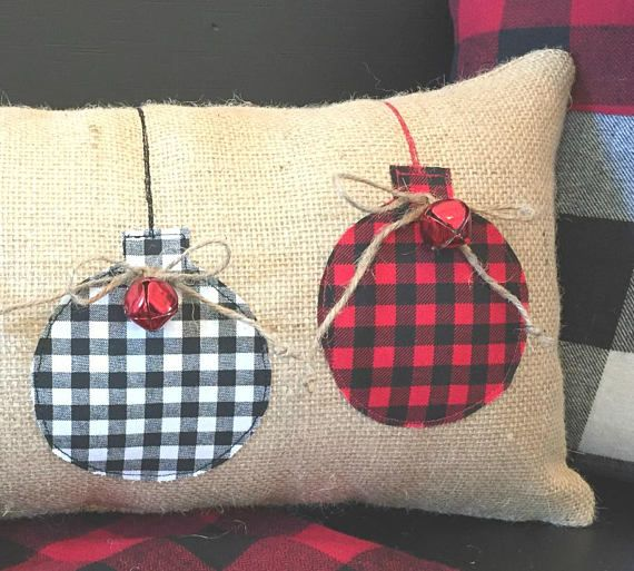 With Buffalo Plaid all the rage for Christmas, weve added a little bit of our own rustic style to this pillow. Featuring both red check and black/white check, this pillow is sure to add the perfect touch to your Christmas decorating. A matching red check JOY pillow is a perfect
