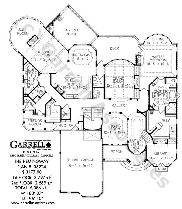 3 Story Open Mountain House Floor Plan: Hemingway House Plan 05224, 1st Floor Plan, Mountain Style