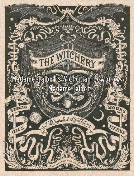 The Witchery Magical Apothecary Witchcraft Wicca Magick Spells Poster