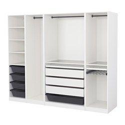 PAX Guardaroba, bianco - bianco - 250x58x201 cm - IKEA