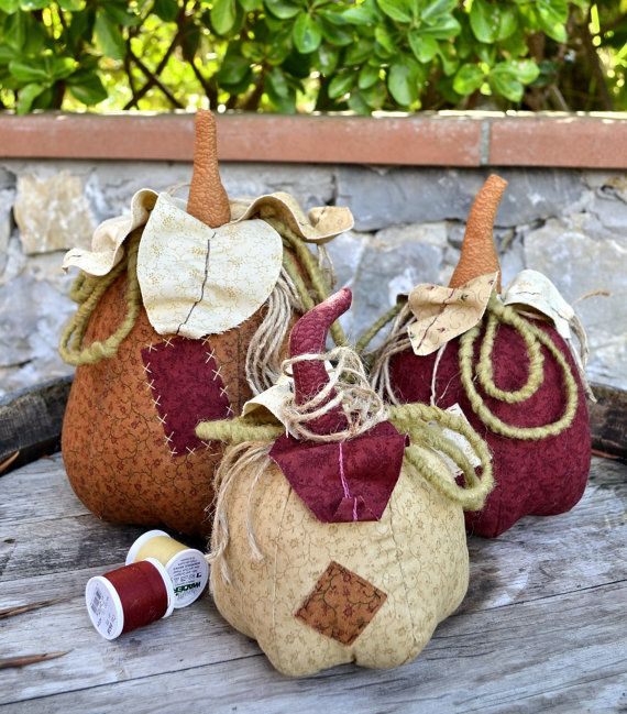 Pdf Sewing Pattern  STUFFED PUMPKINS  by VERONICACOUNTRYLIFE